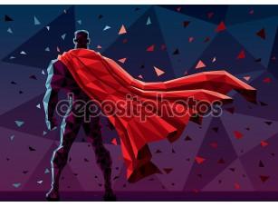 Фотообои «Абстрактный рисунок супергероя»