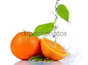 Фотообои «Апельсиновый всплеск воды»
