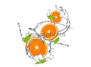 Фотообои «Апельсины на белом фоне»