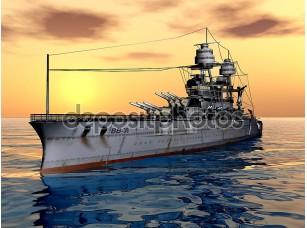 Фотообои «Американский военный корабль uss Аризона»