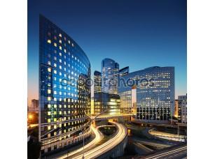 Фотообои «Архитектура бизнес - небоскребы и легкие трассы»