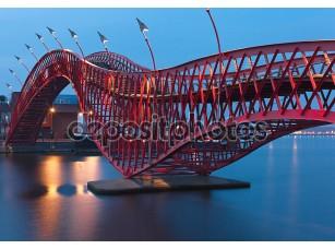 Фотообои «Python мост в Амстердаме - ночная сцена»