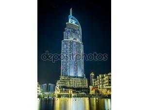 Фотообои «адрес отель в районе Дубай с видом на знаменитый da»