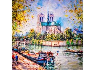 Фотообои «Красочная картина Нотр-Дам в Париже»