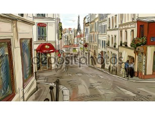 Фотообои «Улица в Париже»