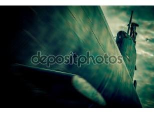 Фотообои «войны подводная схватка - затуманенное стиль фото»
