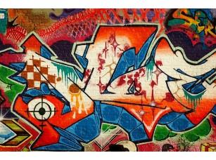 Фотообои «Граффити на кирпичной стене»