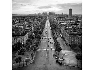 Фотообои «Вид на закат с триумфальной арки в Париже»