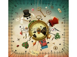 Фотообои «Watches with fabulous items»