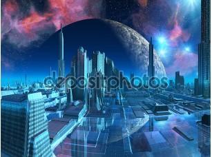 Фотообои «Водолей город Марина»