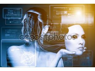 Фотообои «CyberFashion. Абстрактный техно стола»