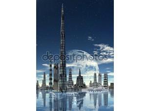 Фотообои «вымышленный город горизонта 01 вариант»