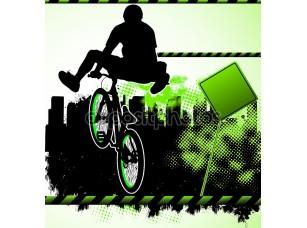 Фотообои «BMX велосипедистов шаблон вектор»