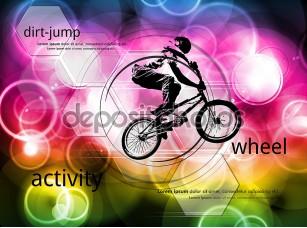 Фотообои «BMX велосипедистов Иллюстрация»