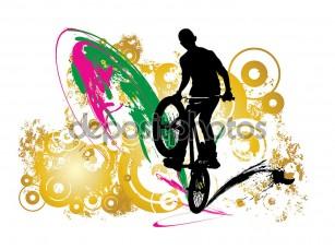 Фотообои «BMX rider Иллюстрация»