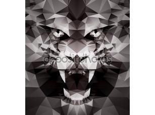 Фотообои «Абстрактный черный тигр»