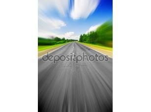 Фотообои «Влияние скорости на дороге»