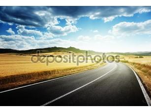 Фотообои «асфальтированная дорога в Тоскане Италия»