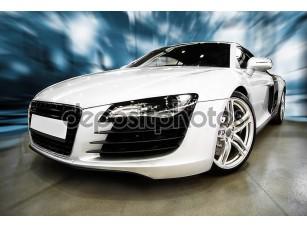 Фотообои «белый спортивный автомобиль»