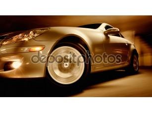 Фотообои «Быстрый спортивный автомобиль с размытие движения»