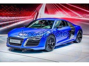 Фотообои «MOSCOW, RUSSIA - AUG 2012: AUDI R8 V10 PLUS presented as world premiere at the 16th MIAS (Moscow International Automobile Salon) on August 30, 2012 in Moscow, Russia»