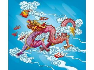 Фотообои «Chinese Dragon Painting»