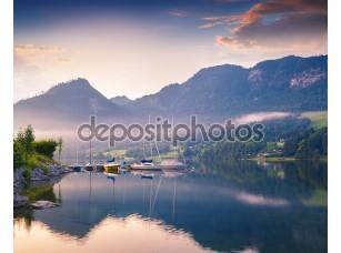 Фотообои «Colorful summer morning on the Grundlsee»