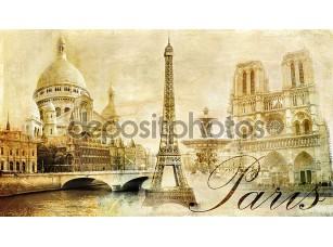 Фотообои «Старый красивый Париж - художественный картинки из моей марочные серии»