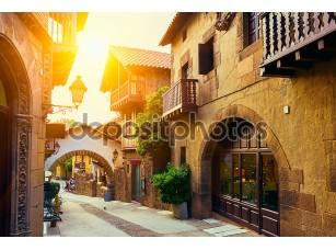Фотообои «Poble espanyol - традиционной архитектуры в Барселоне, Испания»