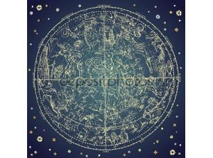 Фотообои «Винтаж зодиакальным созвездием северных звезд»