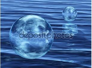 Фотообои «Абстрактный пузырь на воде»
