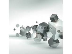 Фотообои «Абстрактные векторные кубы»