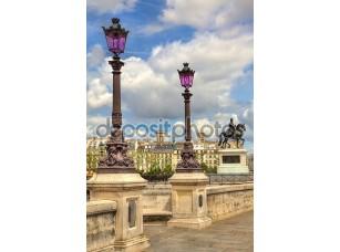 Фотообои «фонарные столбы на новый мост. Париж, Франция.»
