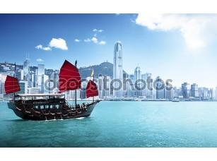 Фотообои «Гонконгская гавань»
