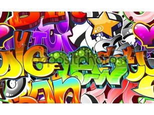Фотообои «Городской граффити фон»