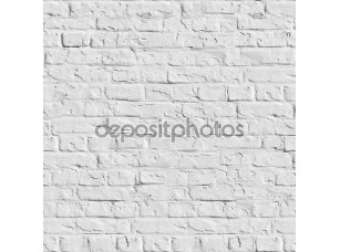 Фотообои «Белая кирпичная стена - бесшовный фон.»