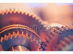 Фотообои «Зубчатые колеса крупным планом»