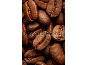 Фотообои «кофе в зернах фона, макро крупным планом»