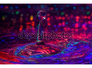 Фотообои «красочные макро фотографии ofwater капли.»