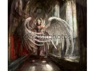 Фотообои «Ангел девушка киборг»