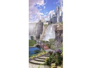 Фотообои «Вид на замок с водопадом»