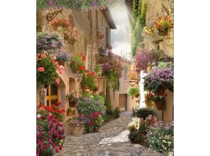 Фотообои «Узкая улочка в цветах»