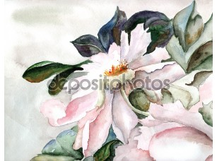 Фотообои «Grunge background with a flower»