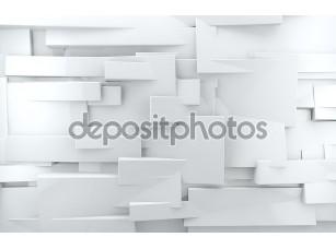 Фотообои «White shiny brick wall»