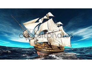 Фотообои «Sailing boat»