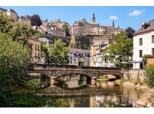 Фотообои «Luxembourg City, Grund, bridge over Alzette river»