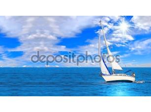 Фотообои «Sailboat sailing in the morning»