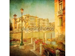 Фотообои «Vintage image of Grand Canal, Venice»