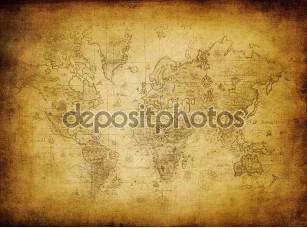 Фотообои «Ancient map of the worl»