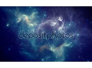 Фотообои «Colorful space nebula»